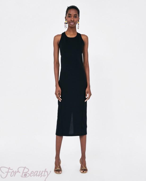 черное платье на каждый день 2018