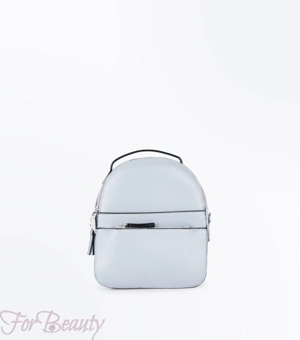 Модный голубой рюкзак 2018