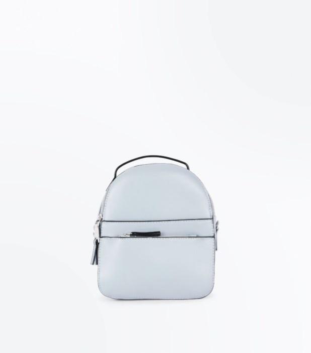 Модный голубой рюкзак 2018-2019