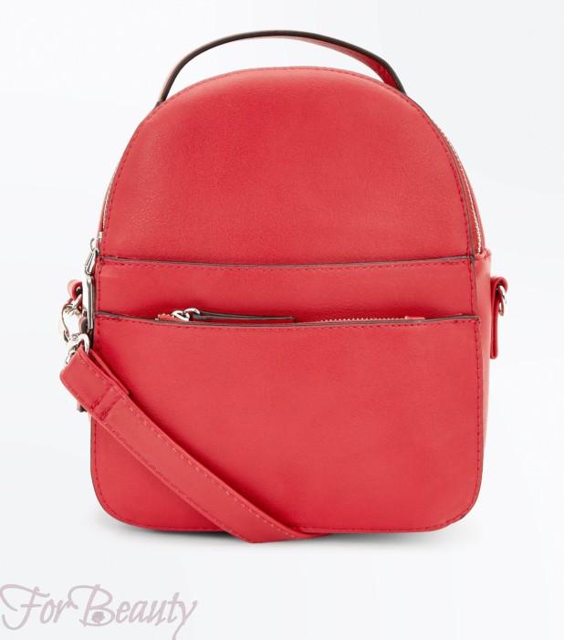 Модный красный рюкзак 2018