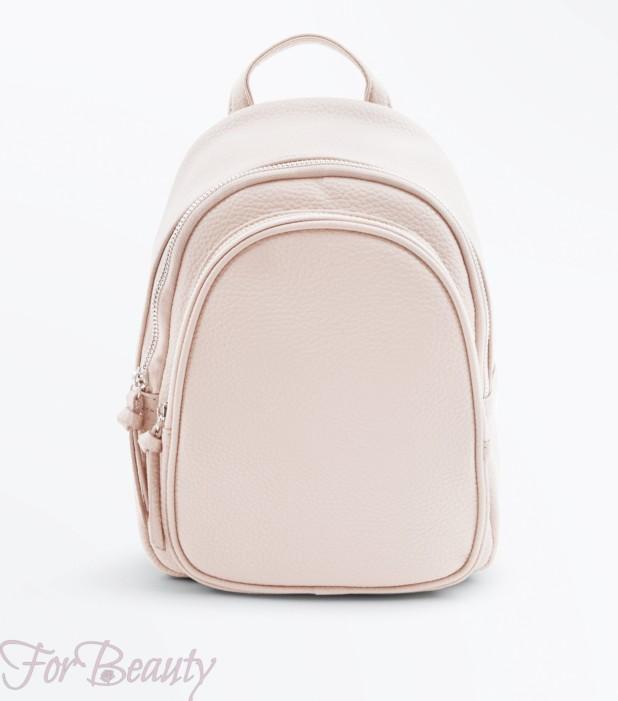 Модный розовый кожаный рюкзак 2018