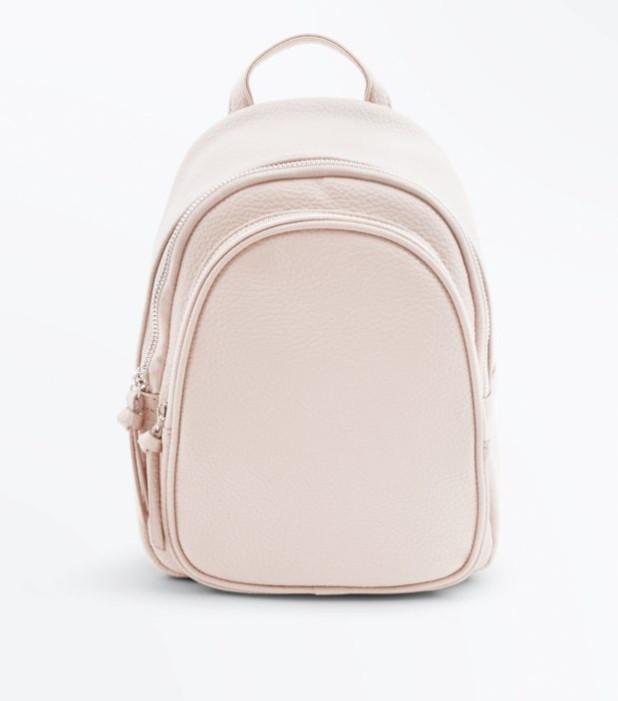 Модный розовый кожаный рюкзак 2018-2019