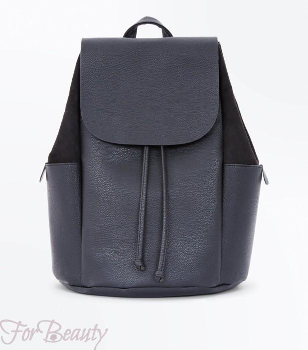 Модный черный рюкзак 2018