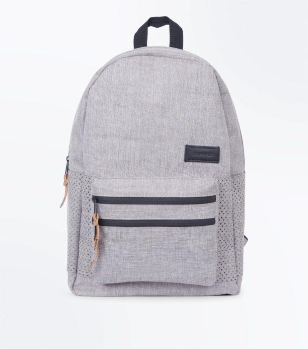 Модный сиреневый тканевый рюкзак 2018-2019