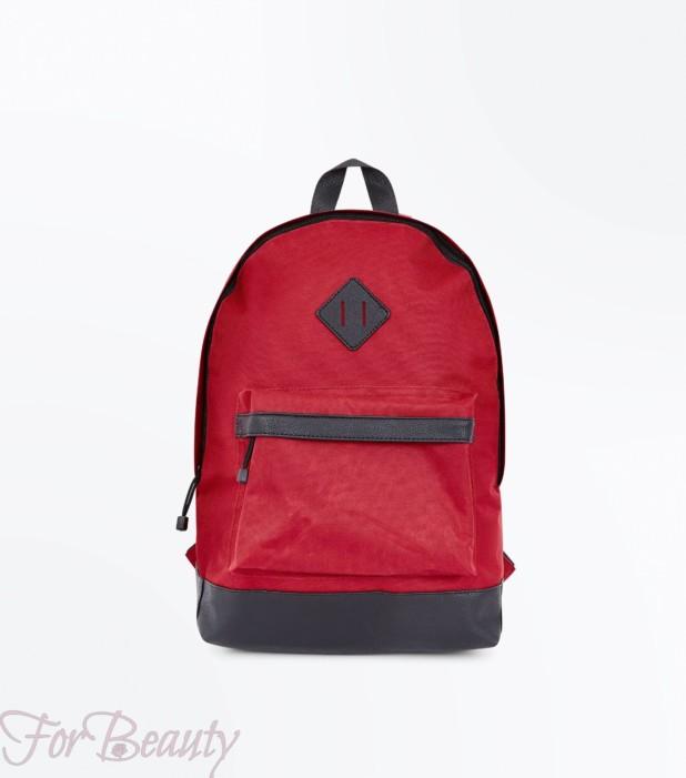 Модный красный тканевый рюкзак 2018