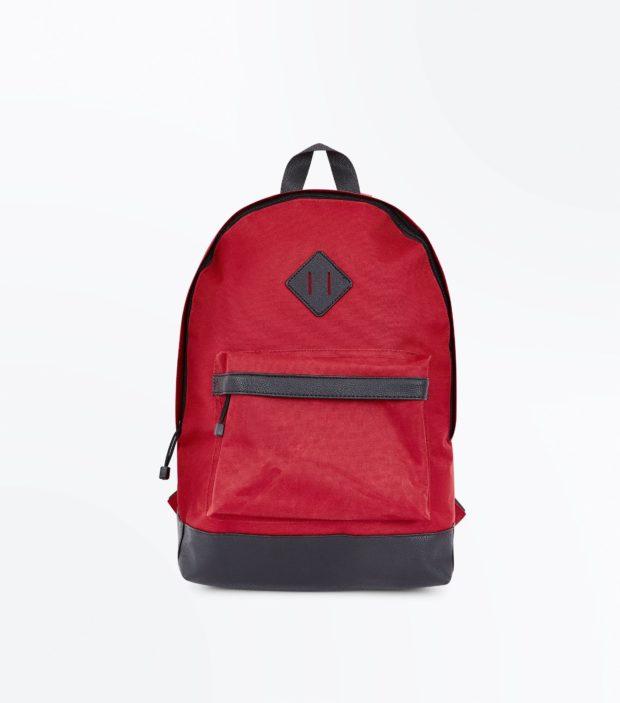 Модный красный тканевый рюкзак 2018-2019