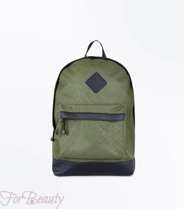 Модный хаки тканевый рюкзак 2018