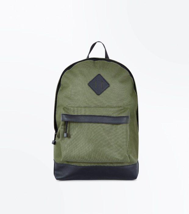 Модный хаки тканевый рюкзак 2018-2019