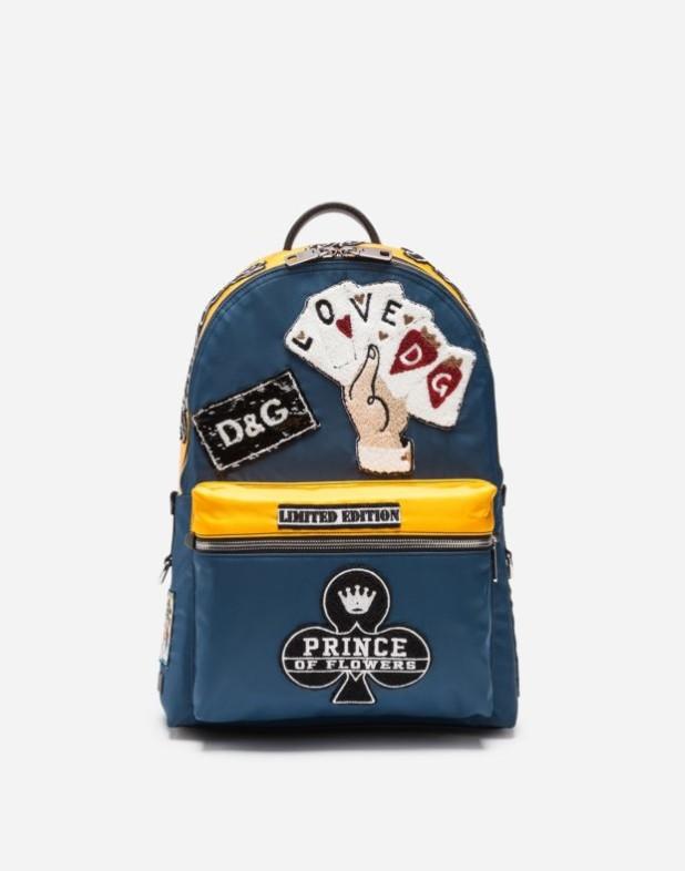 Модный синий тканевый рюкзак 2018-2019
