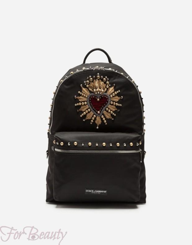 Модный черный тканевый рюкзак 2018