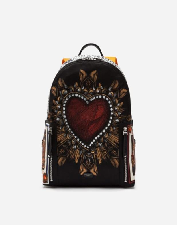 Модный черный тканевый рюкзак 2018-2019