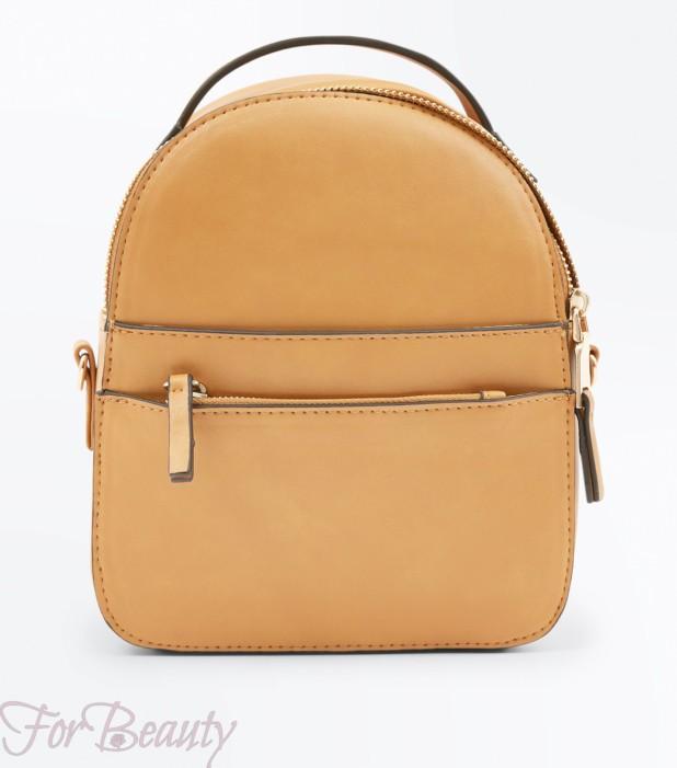 Модный коричневый рюкзак 2018