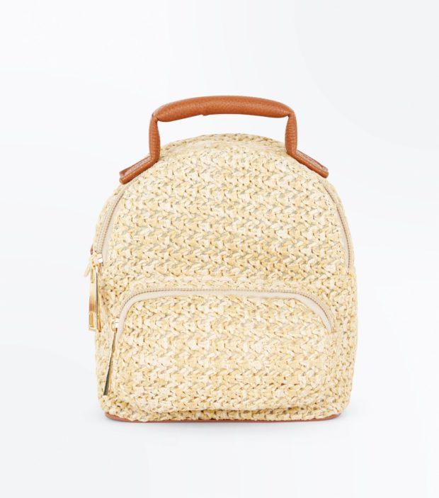Модный бежевый рюкзак 2021