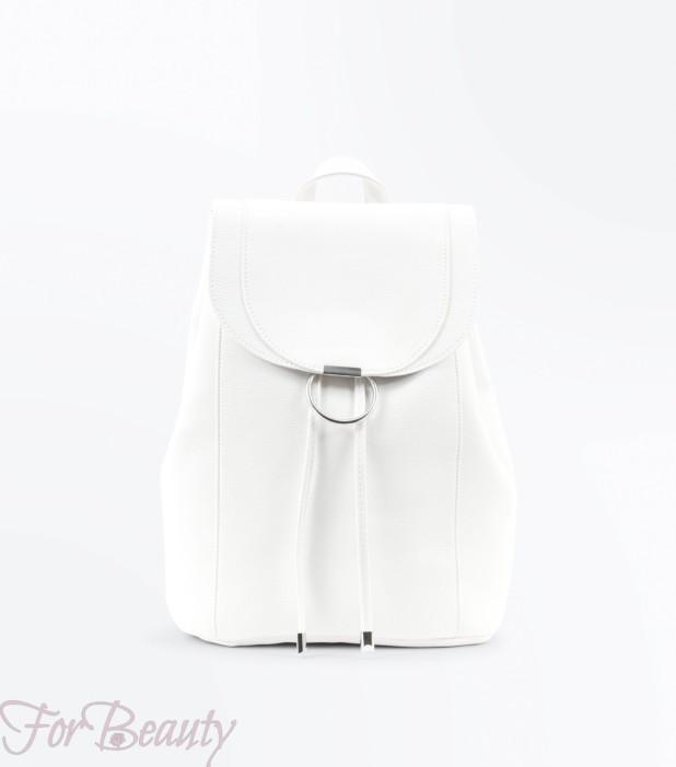 Модный белый рюкзак 2018