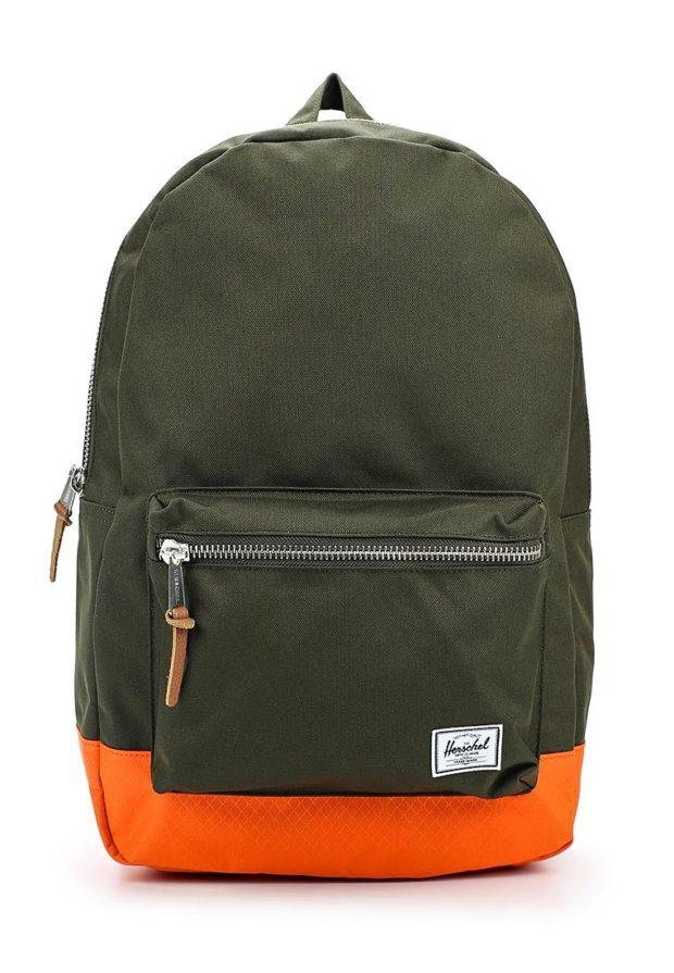 Модный зеленый с оранжевым рюкзак 2018-2019