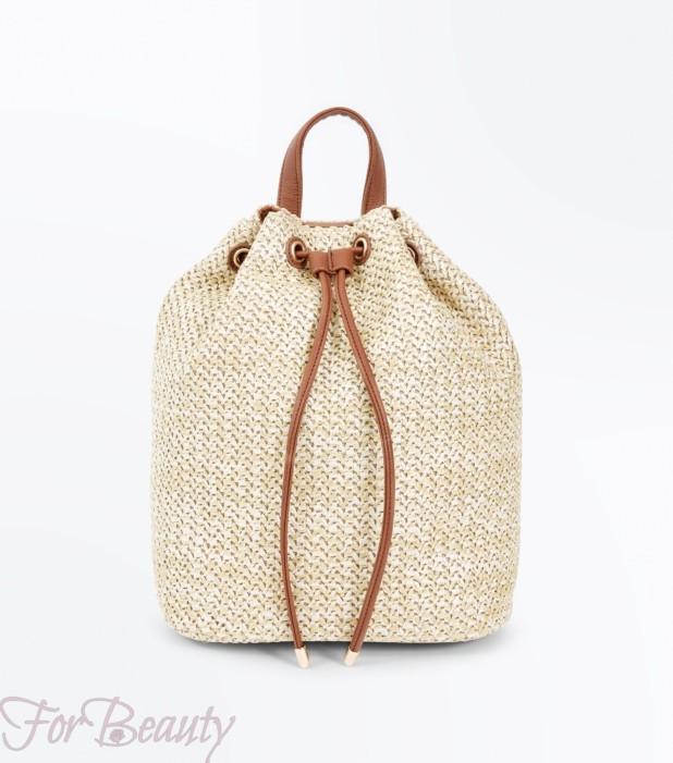 Модный бежевый рюкзак 2018