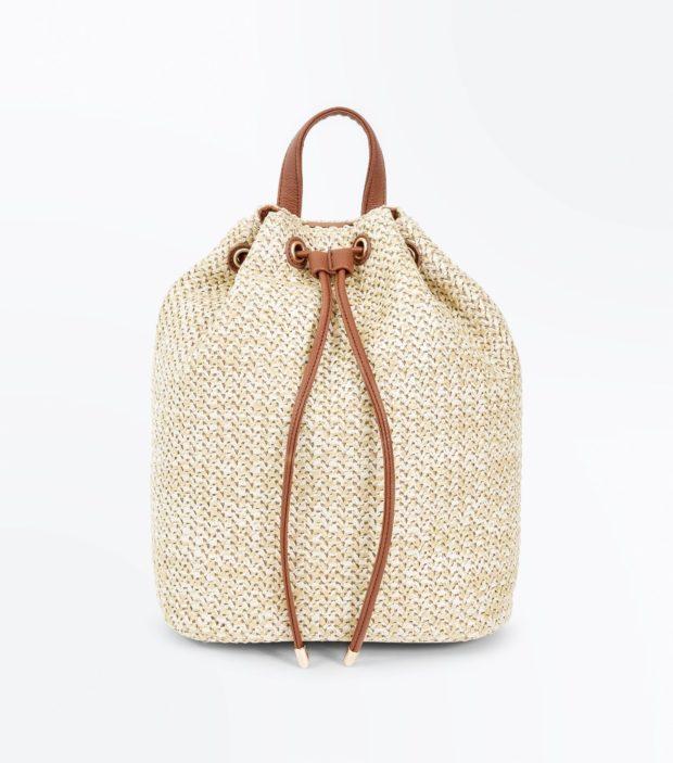 Модный бежевый рюкзак 2020-2021