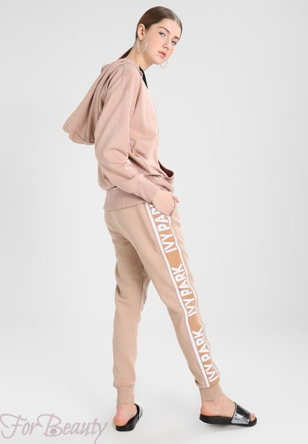 спортивный костюм женский 2018 2019: розовый
