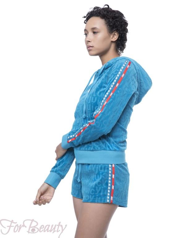 синий велюровый спортивный костюм 2018
