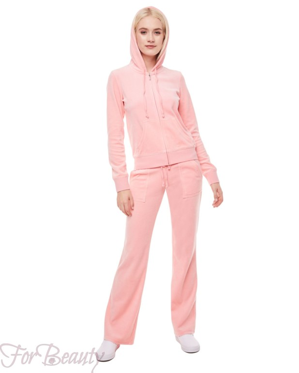 розовый велюровый спортивный костюм 2018