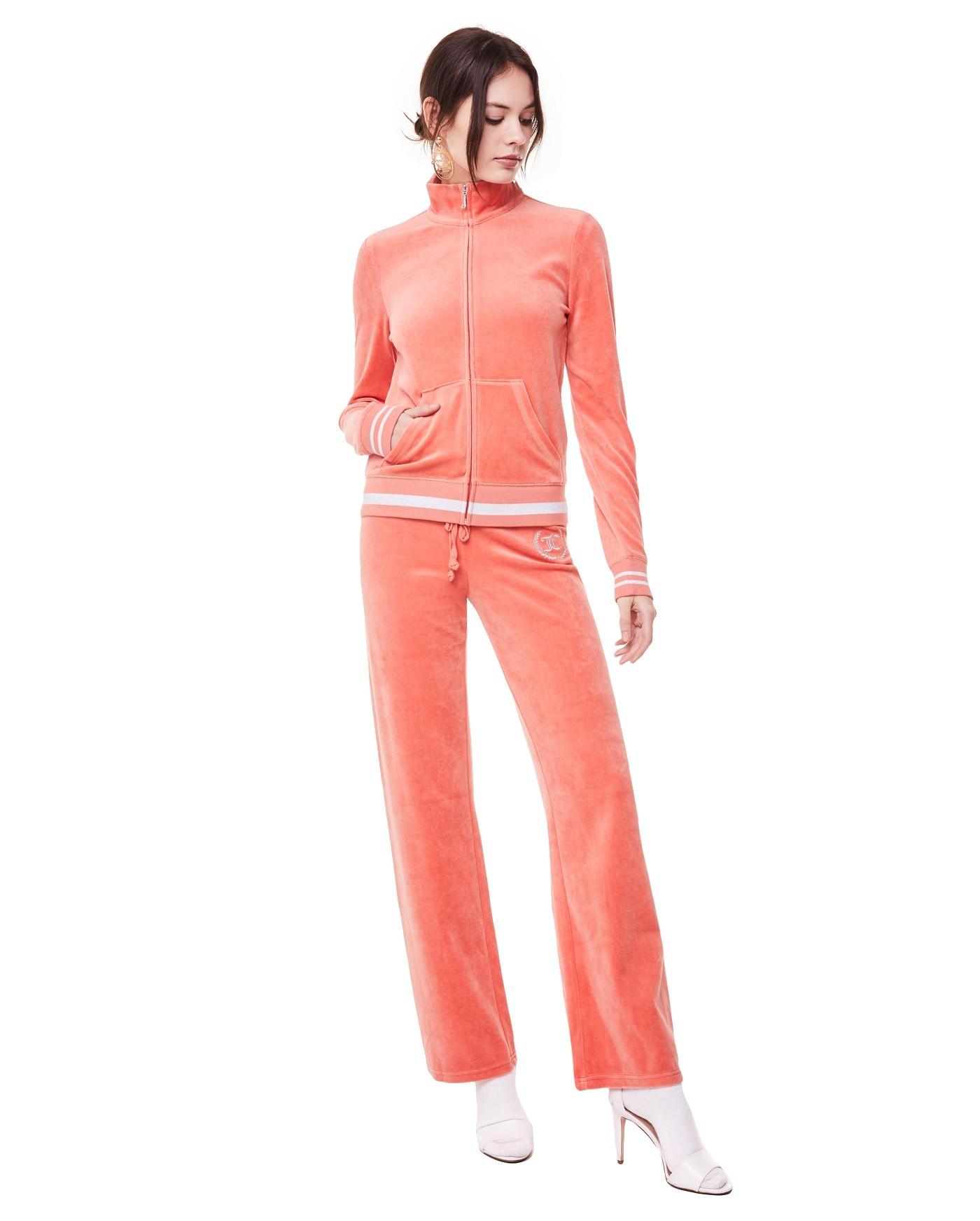 спортивный костюм женский модный 2018 2019: розовый велюровый