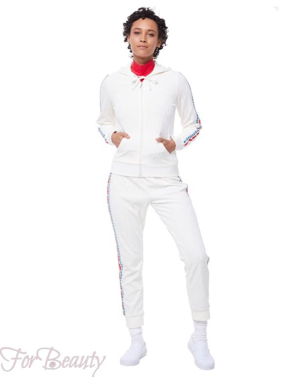 белый велюровый спортивный костюм 2018