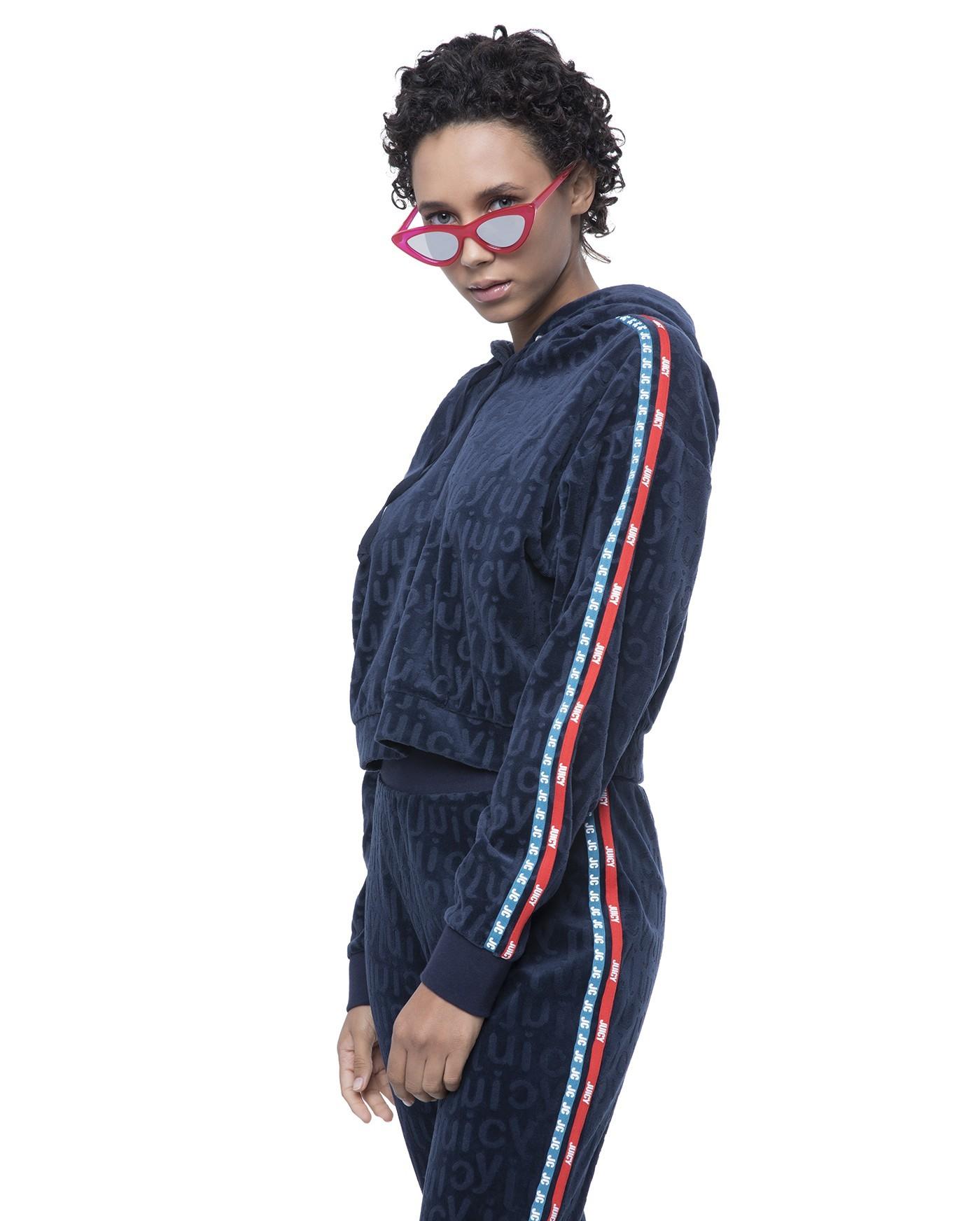 спортивный костюм женский модный 2018 2019: синий велюровый