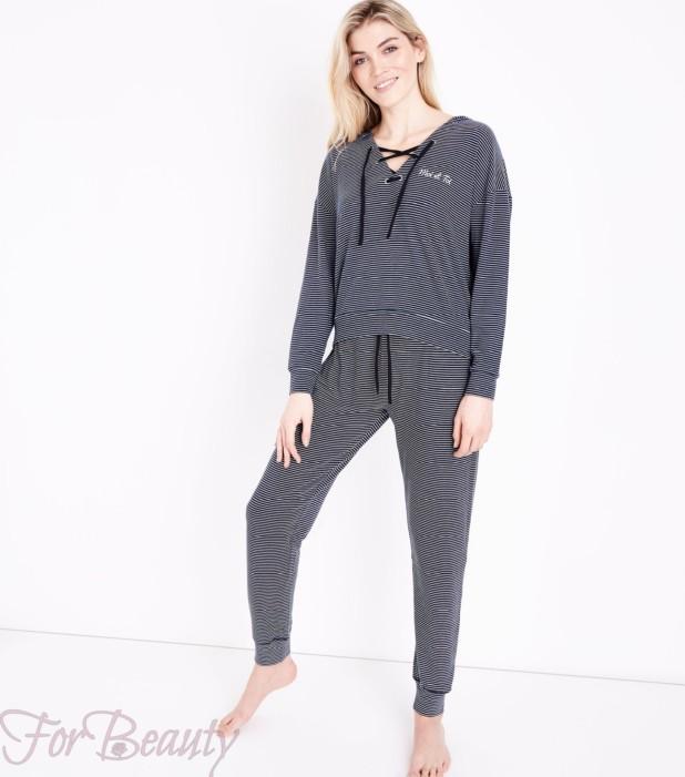 серый спортивный костюм в пижамном стиле 2018