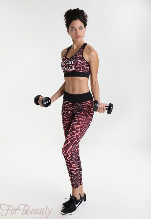 спортивный костюм с облегающим силуэтом 2018