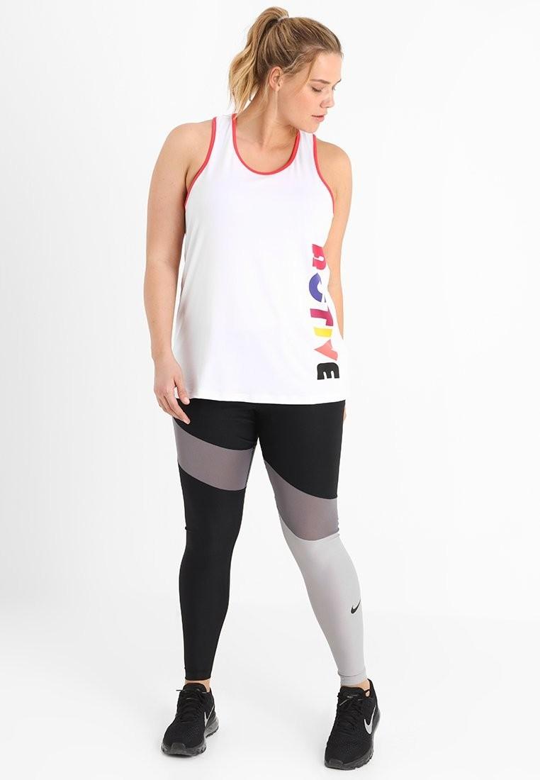 спортивный костюм женский 2018 2019: черный с белым для полных