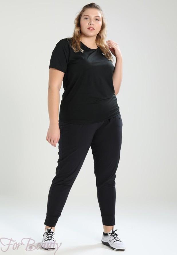черный спортивный костюм для полных 2018