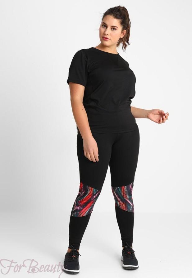 спортивный костюм женский 2018 2019: черный для полных