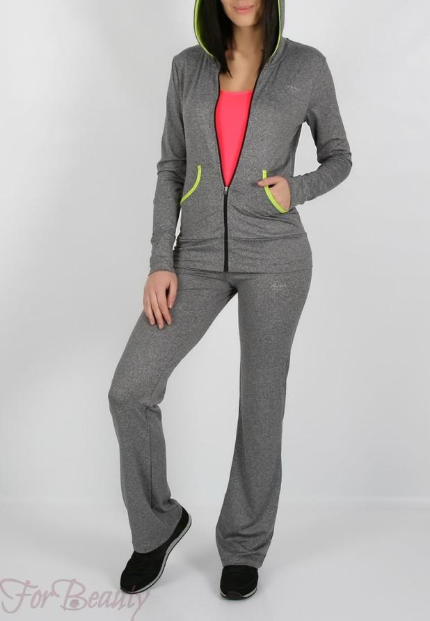модные спортивные костюмы 2018 2019 женские фото: серый