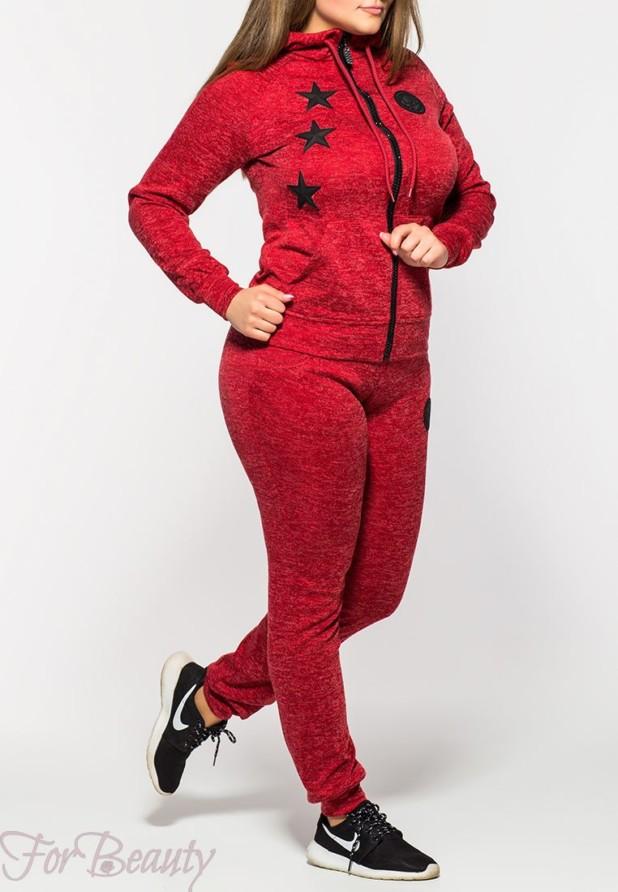 модные спортивные костюмы 2018 2019 женские фото: красный