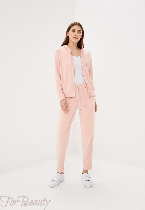 модные спортивные костюмы 2018 2019 женские фото: розовый
