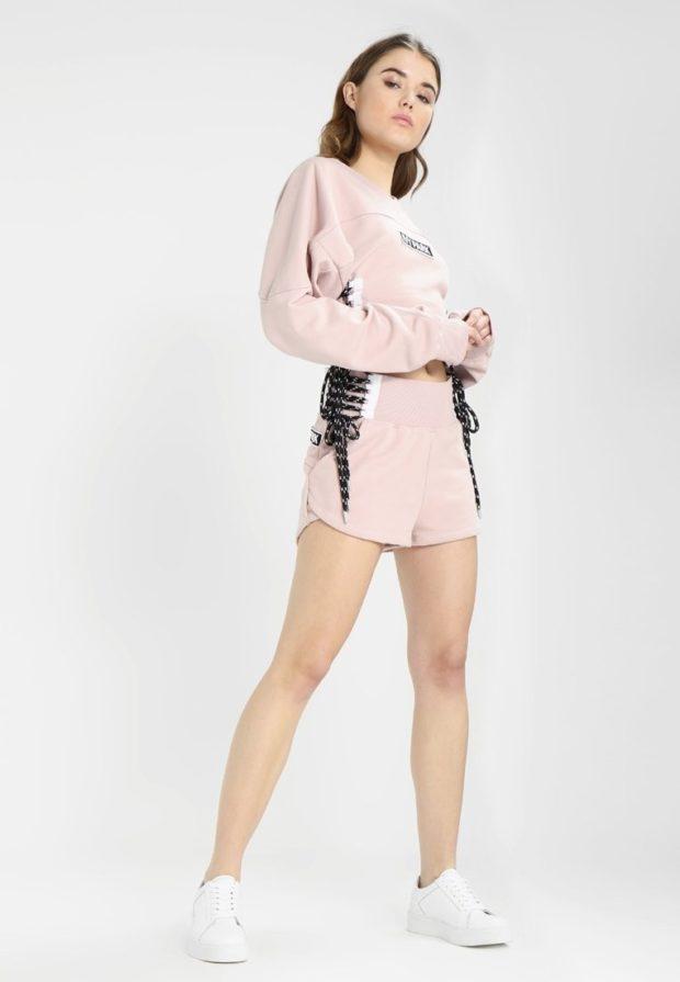 спортивные костюмы 2020 2021 женские: розовый