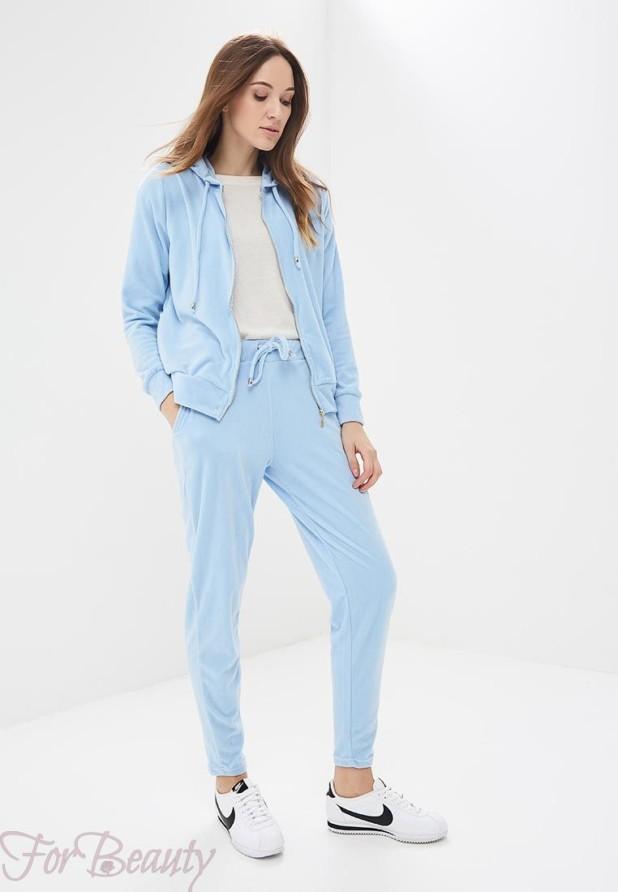 голубой спортивный костюм 2018