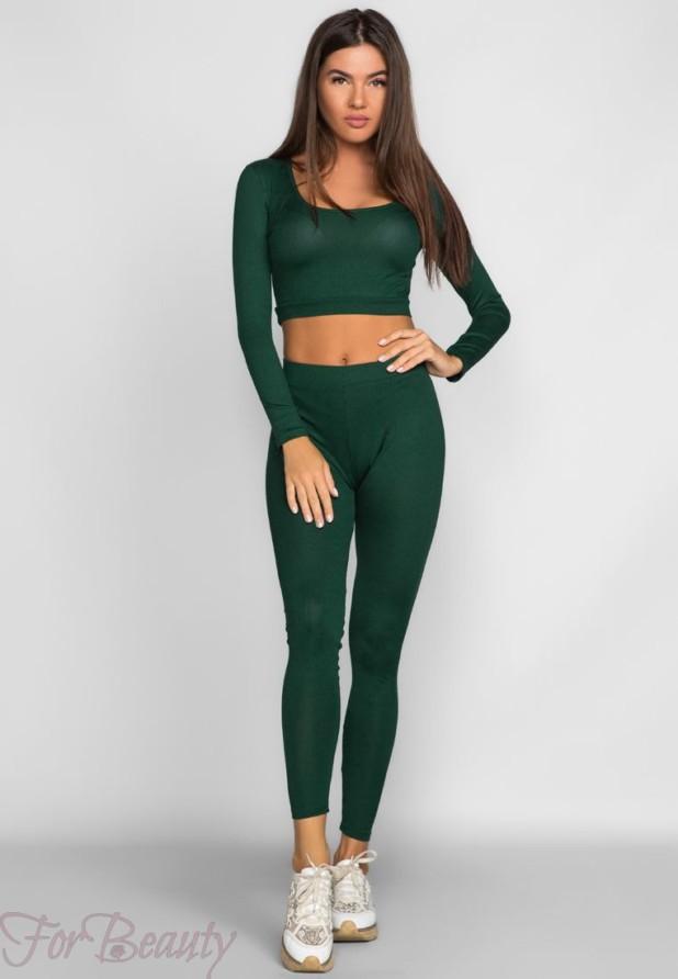 зеленый спортивный костюм 2018