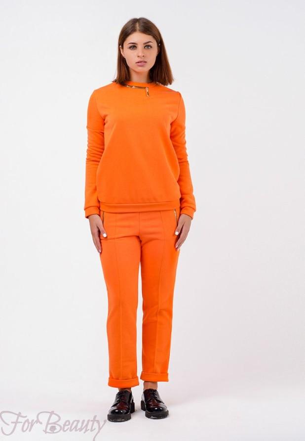 оранжевый с серым спортивный костюм 2018