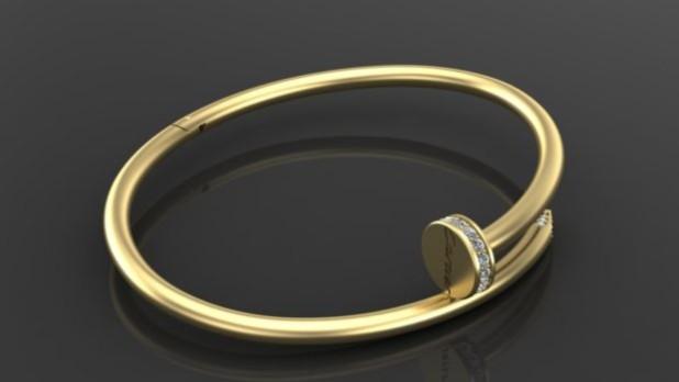 Модный браслет из золота 2018-2019