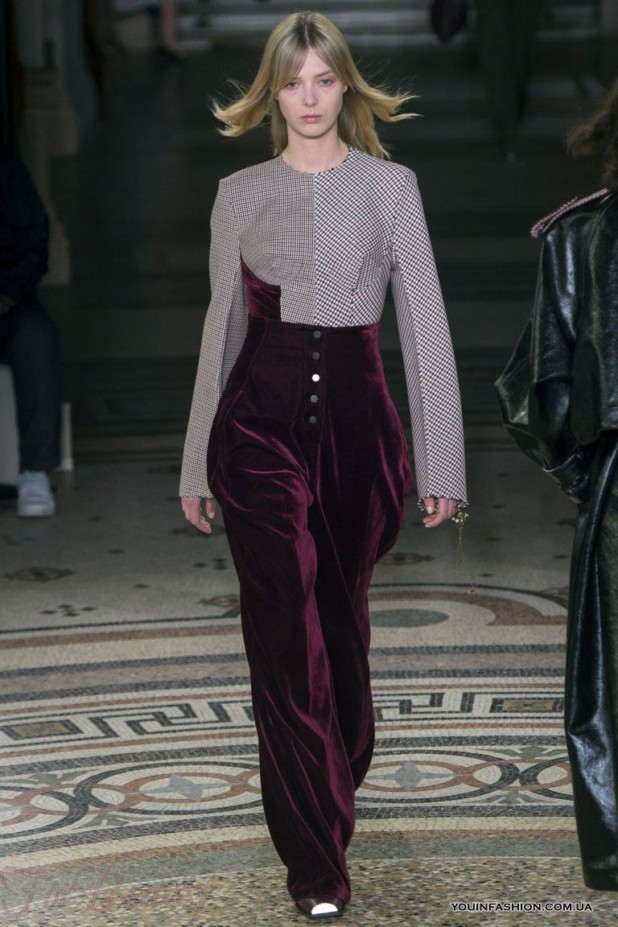 модные брюки в 2019 году для женщин: бархатные бордовые
