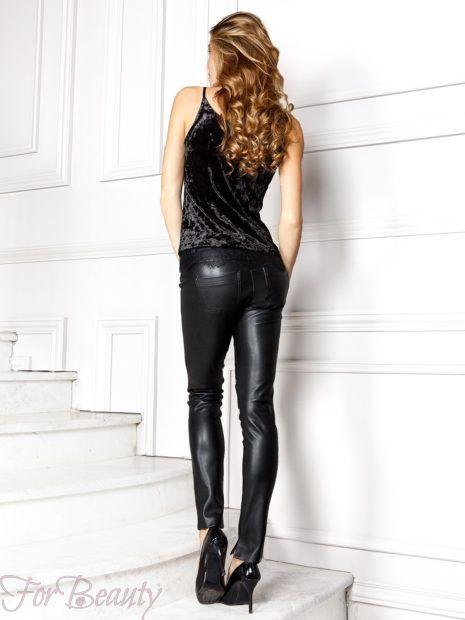 брюки 2019 женские: кожаные черные