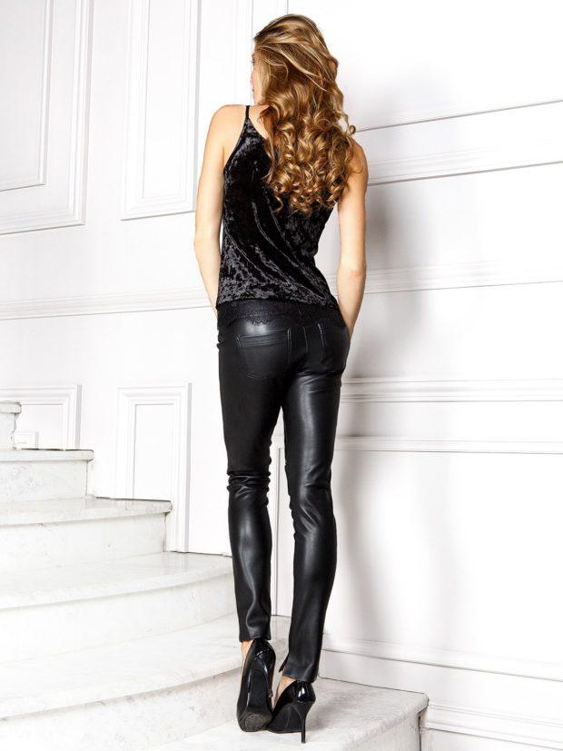 кожаные черные