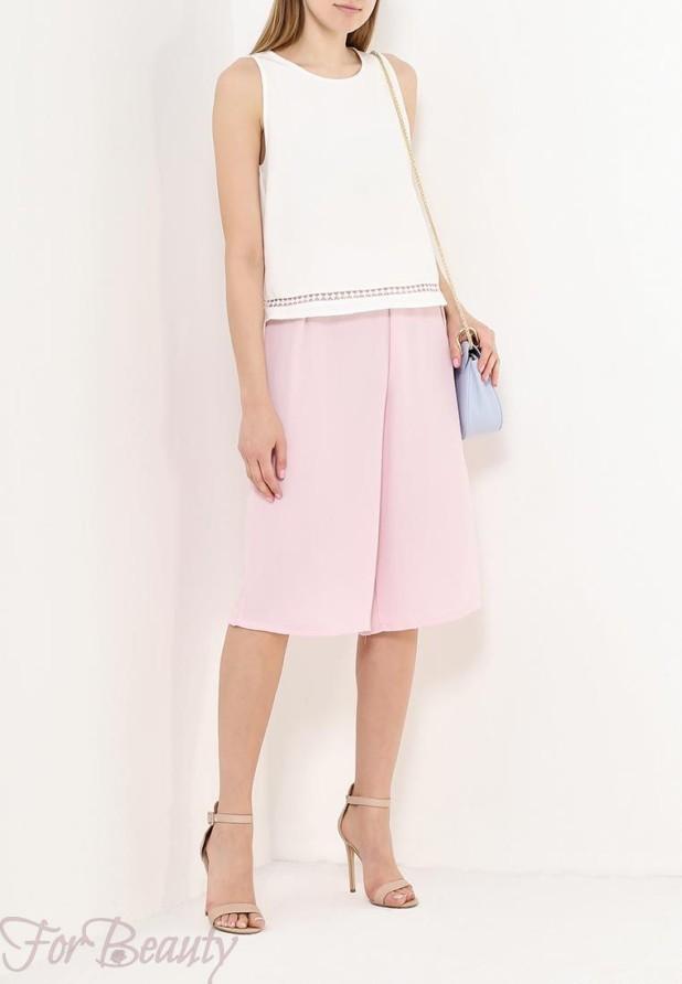 Модные розовые брюки кюлоты 2018 год