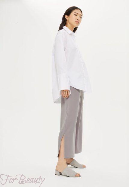 модные брюки 2019 женские: серые кюлоты