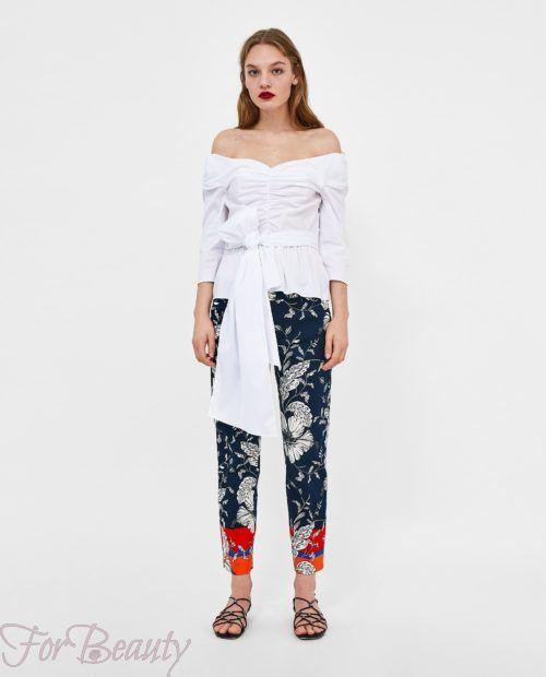 модные брюки 2019 женские: черные 7/8