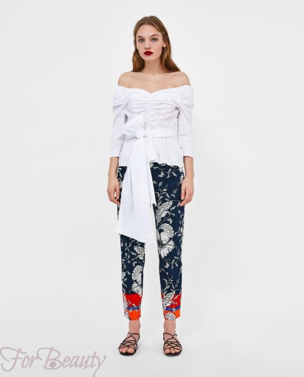модные черные брюки 7/8 2018 год