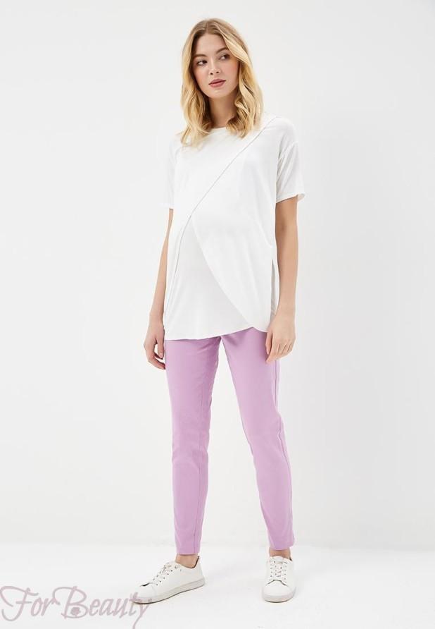 женские брюки 2019 года модные тенденции фото: сиреневые узкие