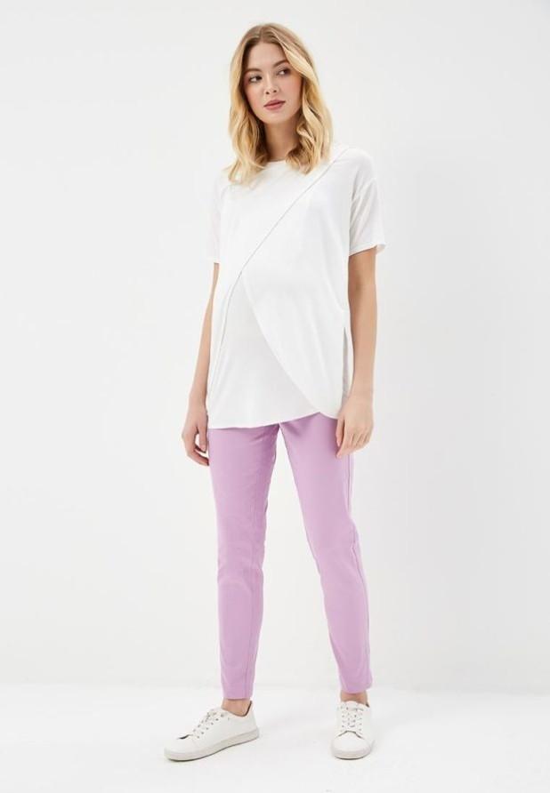 женские брюки 2018-2019 года: сиреневые узкие