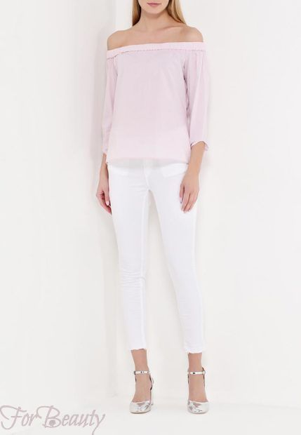 модные брюки женские 2019: белые скинни
